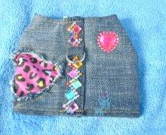 Jeans mit Flicken Herz
